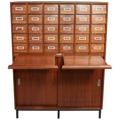Vintage Midcentury Apothecary Cabinet, Chest of Drawers, circa 1960