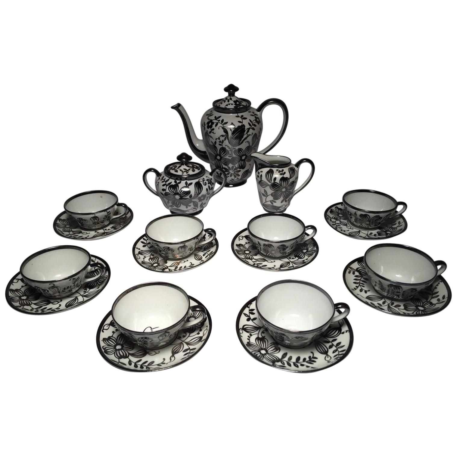 Vintage Midcentury Bavarian Porcelain Tea Set