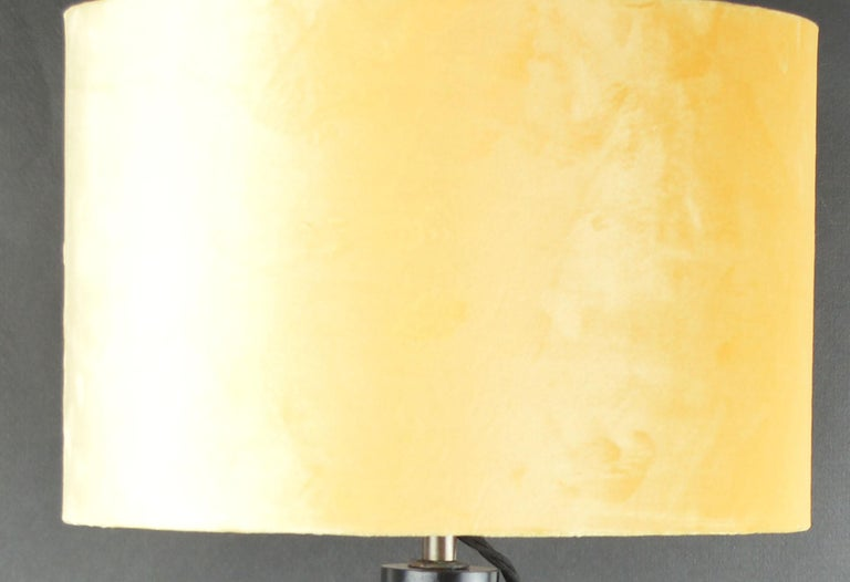 English Vintage Midcentury Brass Telescopic Tripod Table Lamp