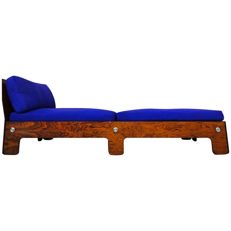 Vintage Midcentury Chaise Longue or Day Bed For Sale