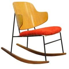 Vintage Midcentury Danish Modern lb Kofod Larsen Penguin Rocking Chair Rocker