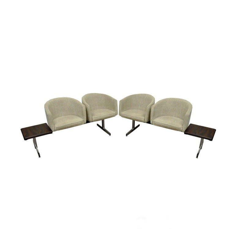 Vintage Midcentury Danish Modern Rosewood End Tables Club Chairs