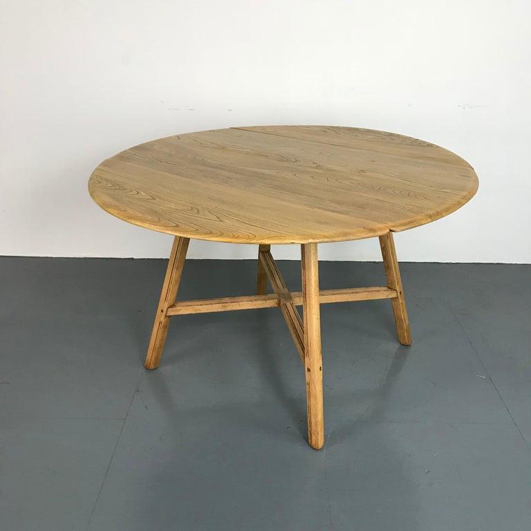 Vintage Midcentury Ercol Drop-Leaf Dining Table For Sale