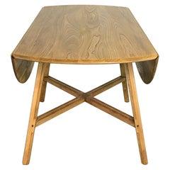 Vintage Midcentury Ercol Drop-Leaf Dining Table