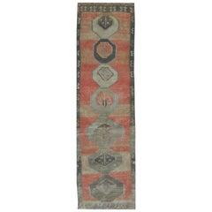 Vintage Midcentury Handmade Runner Rug