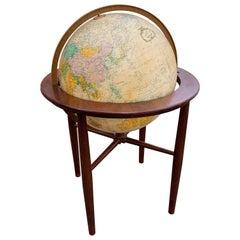Vintage Midcentury Illuminated Floor Globe by Replogle Globes Inc