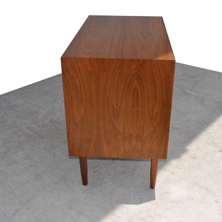 American Vintage Midcentury Kipp Stewart for Drexel Declaration Walnut Record Cabinet For Sale