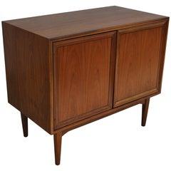 Vintage Midcentury Kipp Stewart for Drexel Declaration Walnut Record Cabinet