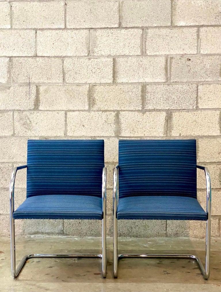Vintage Midcentury Knoll Tubular BRNO Chairs, a Pair For Sale 3