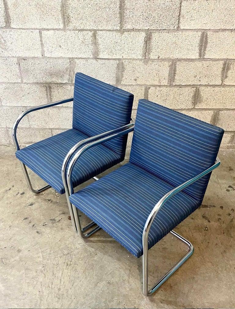 Mid-Century Modern Vintage Midcentury Knoll Tubular BRNO Chairs, a Pair For Sale