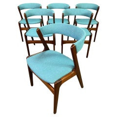 Vintage Midcentury Mahogany Dining Chairs in the Manner of Kai Kristiansen
