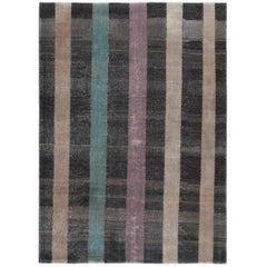 Vintage Midcentury Minimalist Flat-Weave Rug