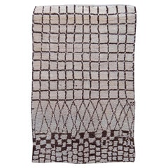 Vintage Midcentury Moroccan Wool Rug with Tribal Geometric Design