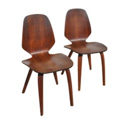 Vintage Midcentury Pair of George Mulhauser Plycraft Side Chairs