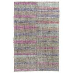 Vintage Midcentury Pelas Flat-Weave Rug