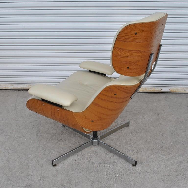 Superb Vintage Midcentury Plycraft Leather Lounge Chair Ibusinesslaw Wood Chair Design Ideas Ibusinesslaworg