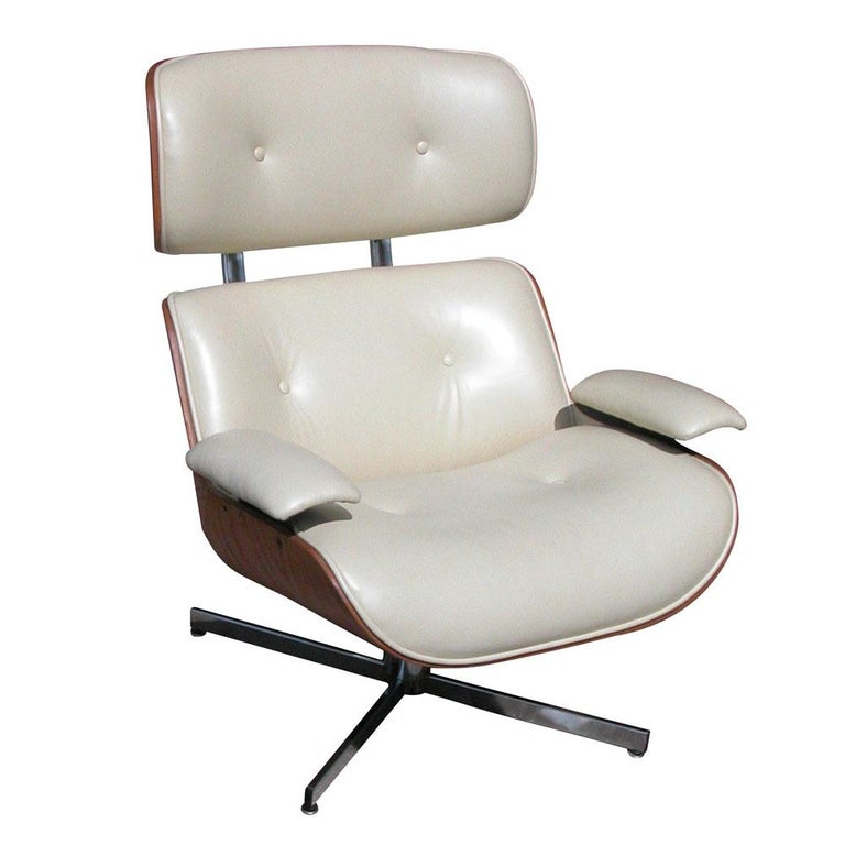 Awesome Vintage Midcentury Plycraft Leather Lounge Chair Ibusinesslaw Wood Chair Design Ideas Ibusinesslaworg