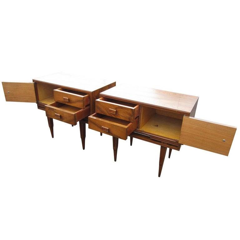 Mid-Century Modern Vintage Midcentury Rosewood Side Tables Nightstands  For Sale