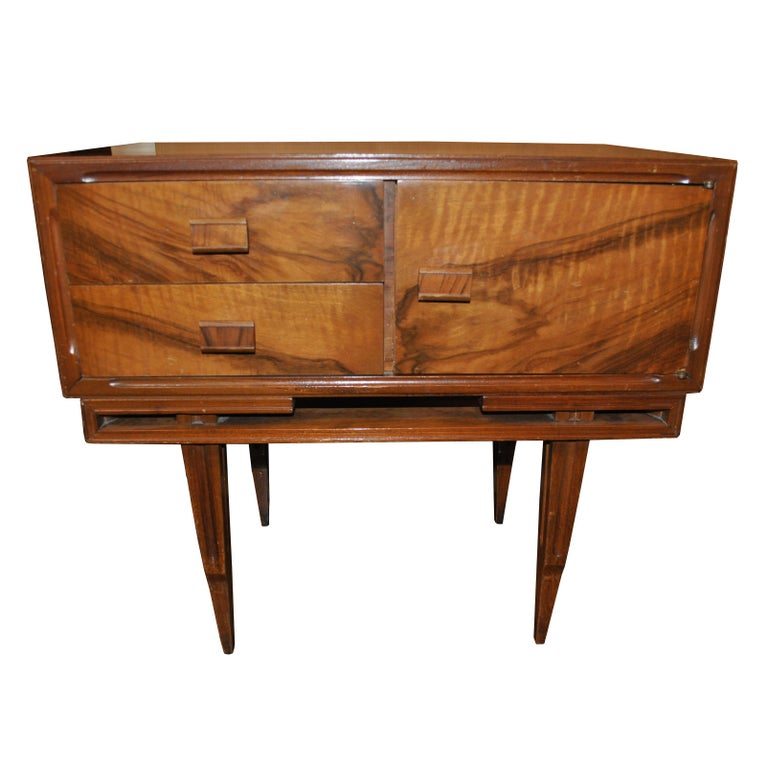 South American Vintage Midcentury Rosewood Side Tables Nightstands  For Sale