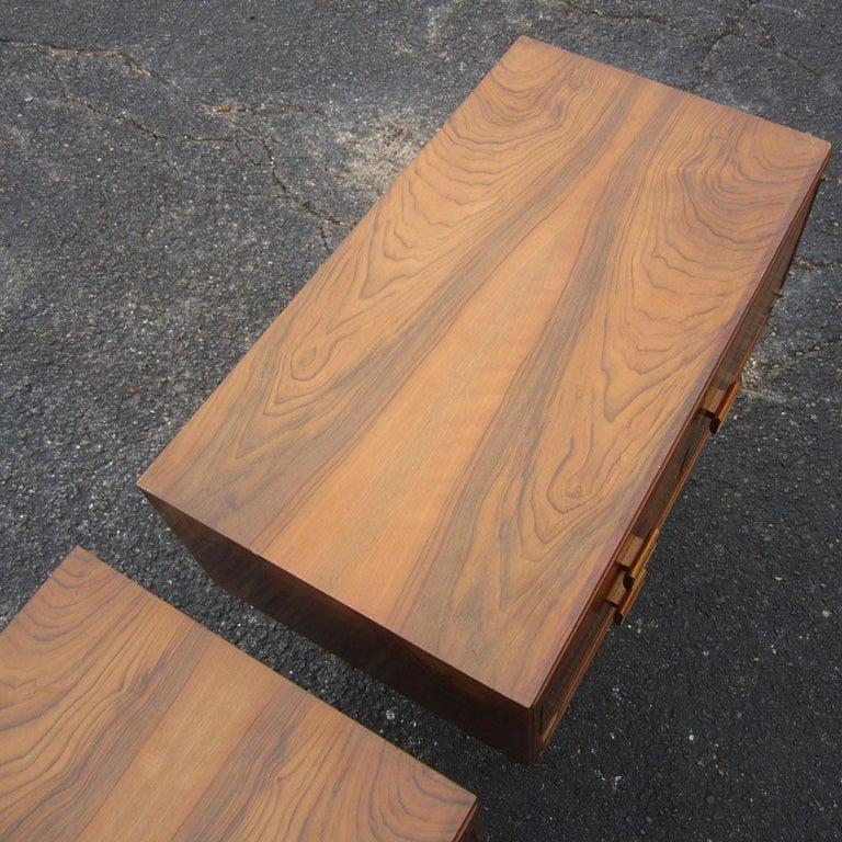 Vintage Midcentury Rosewood Side Tables Nightstands  For Sale 3