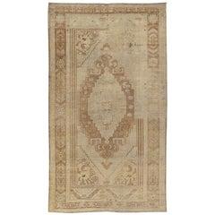 Vintage Midcentury Tribal Anatolian Rug