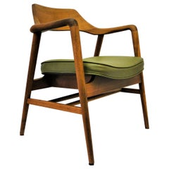 Vintage Midcentury Walnut Sculptural Chairs by Gunlocke