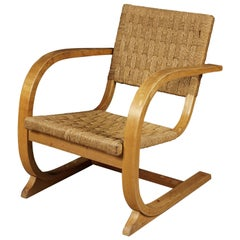Vintage Midcentury Woven Lounge Chair Designed by Bas Van Pelt, Netherlands