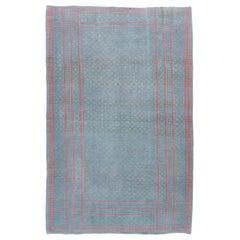 Vintage Midcentury Zeillu Flat-Weave Rug