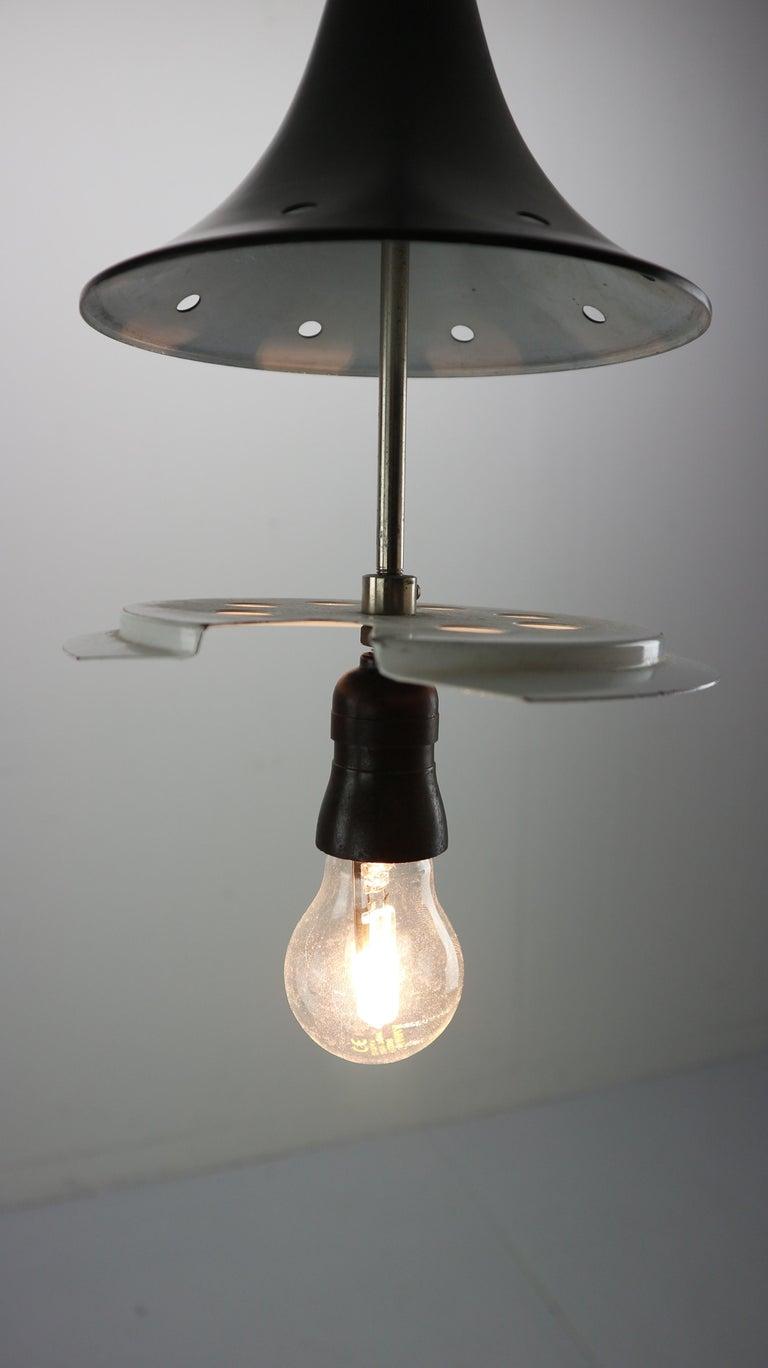 Vintage Milk Glass Drop Shape-Pendant Lamp By Kamenický Šenov, Czechosl, 1950s For Sale 7