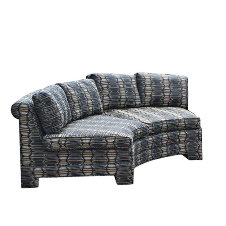 Large Circular Sectional Sofas: Vintage Milo Baughman Circular Sectional Sofa For Sale At