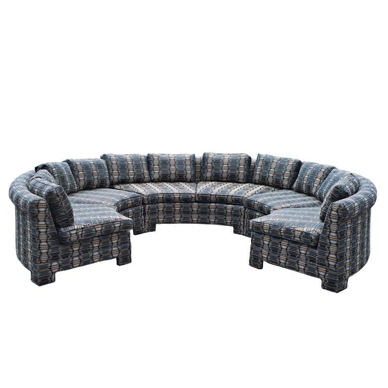Vintage Milo Baughman Circular Sectional Sofa For Sale At