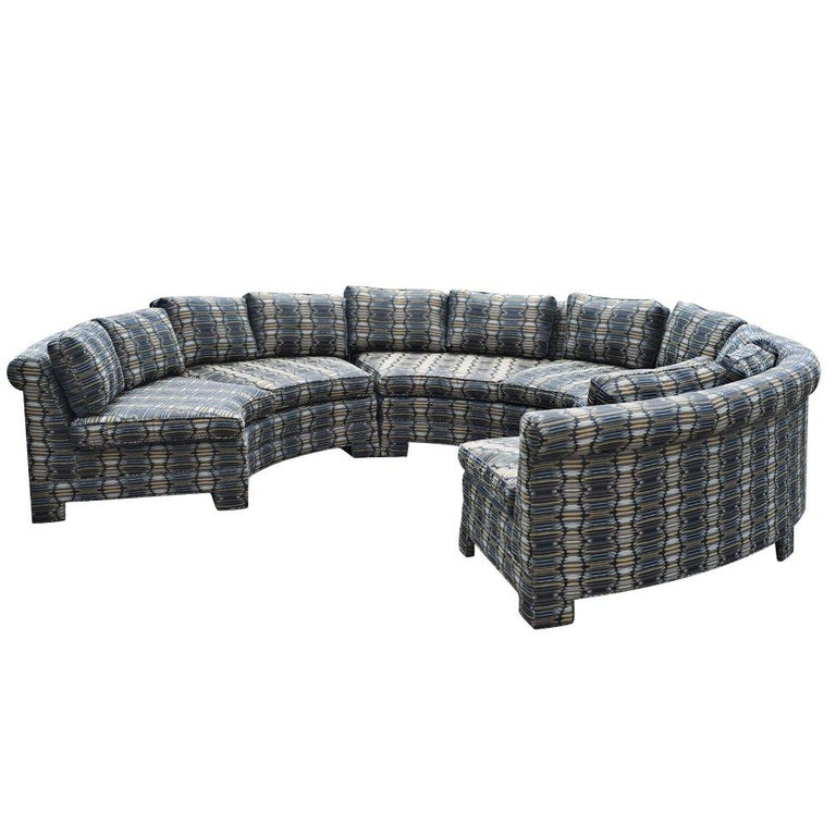 Vintage Milo Baughman Circular Sectional Sofa For Sale