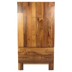 Vintage Milo Baughman Style Rosewood Front Wardrobe