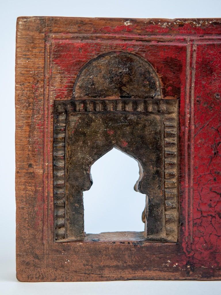 Vintage miniature architectural votive frame. Measures: 14