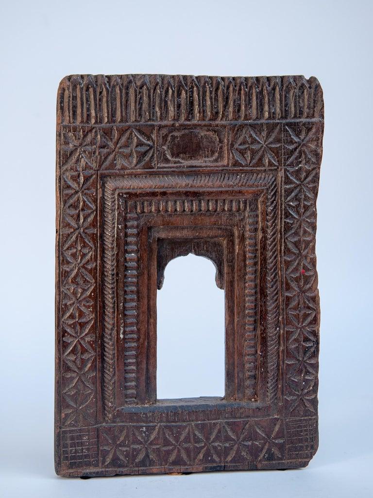 Vintage Miniature Architectural Votive Frame, Mid-20th Century, India For Sale 13