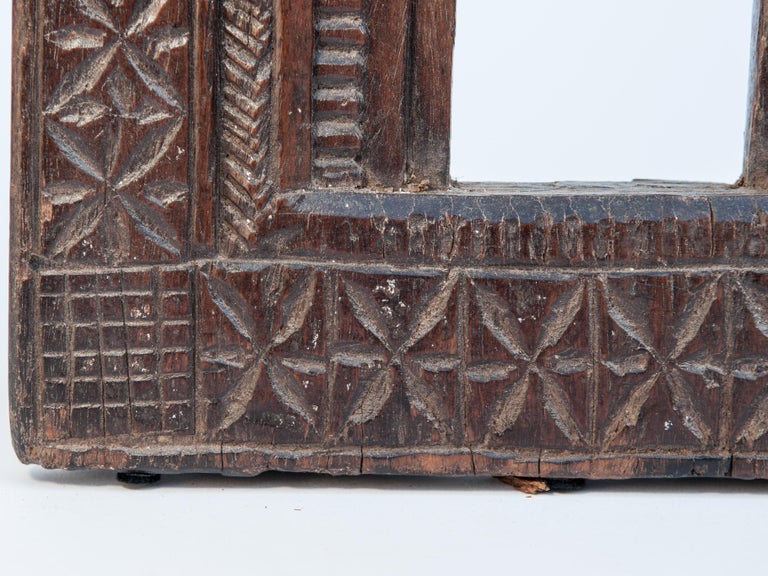 Hand-Carved Vintage Miniature Architectural Votive Frame, Mid-20th Century, India For Sale