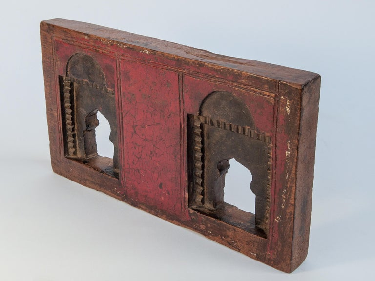 Wood Vintage Miniature Architectural Votive Frame, Mid-20th Century, India For Sale