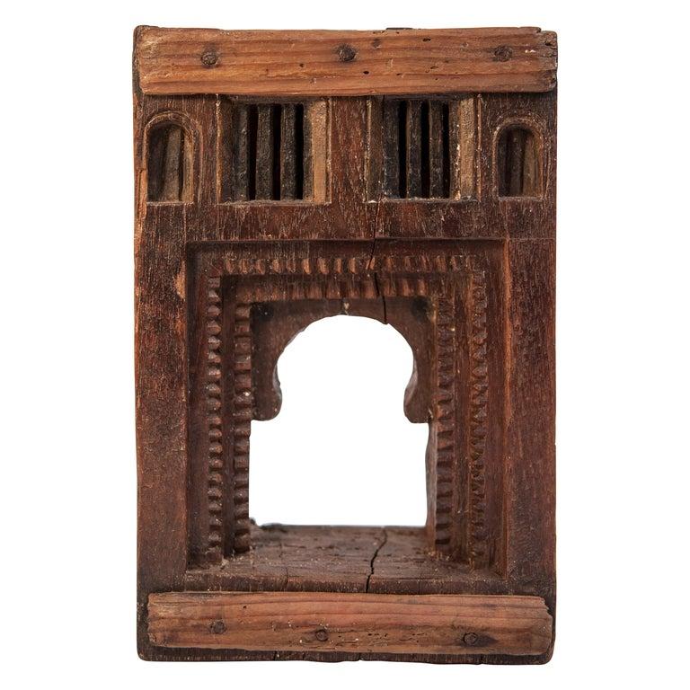 Vintage Miniature Architectural Votive Frame, Mid-20th Century, India For Sale