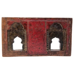 Vintage Miniature Architectural Votive Frame, Mid-20th Century, India