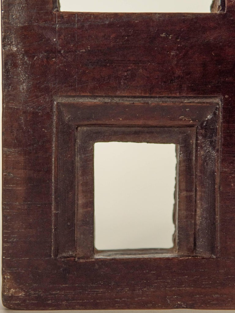 Hand-Carved Vintage Miniature Architectural Votive & Picture Frame, Mid-20th Century, India For Sale