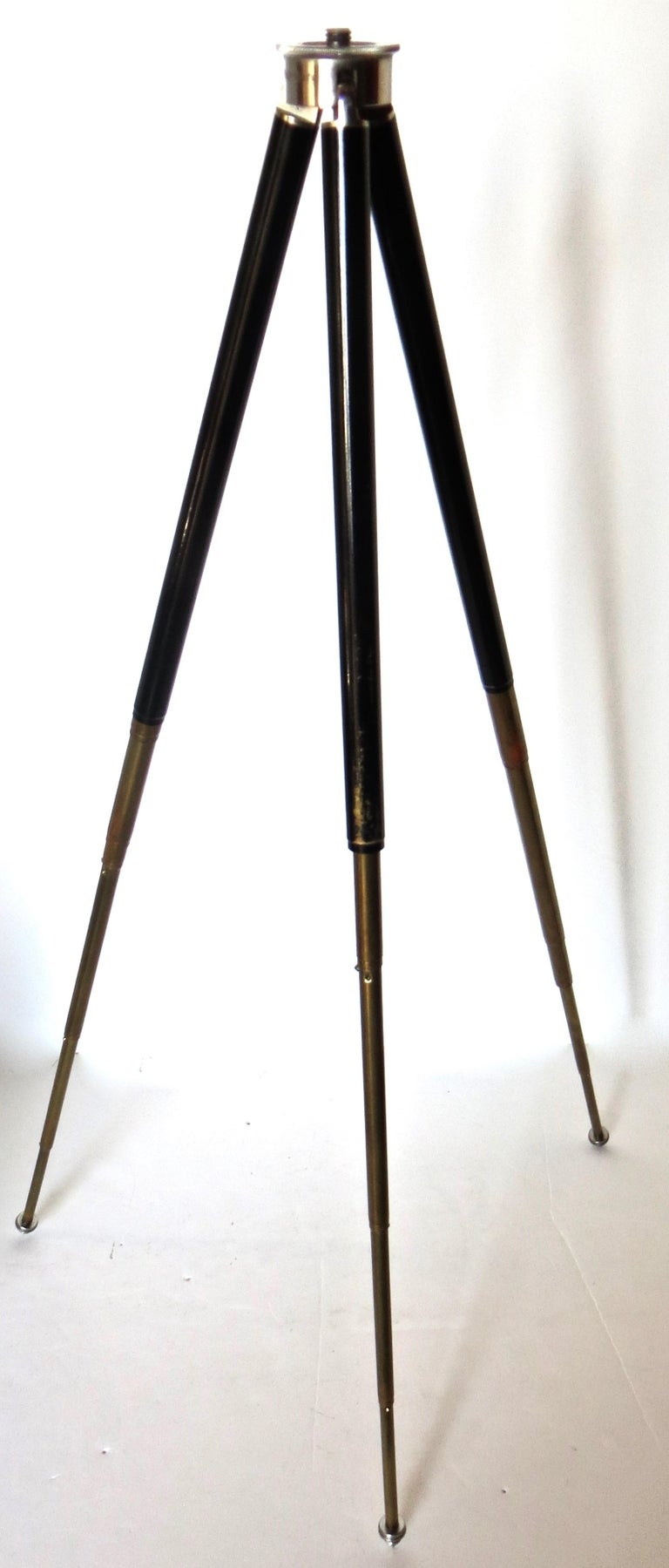 Early 20th Century Vintage Miniature German Variable Camera Tripod 1920s with Ansel Adams Book For Sale
