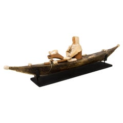 Vintage Miniature Kayak, Native American, Inuit 'Eskimo', circa 1920
