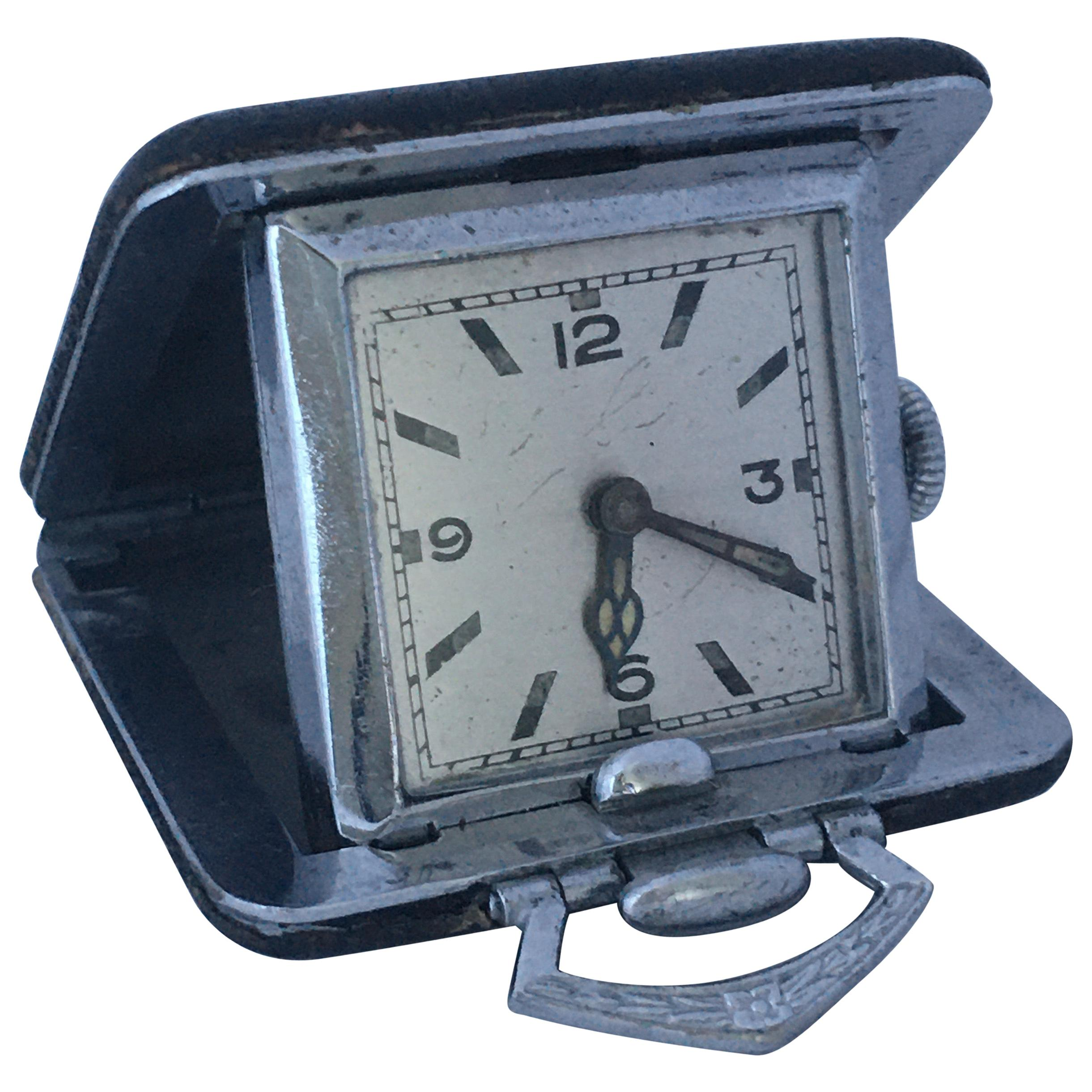 Vintage Miniature Mechanical Travel Clock