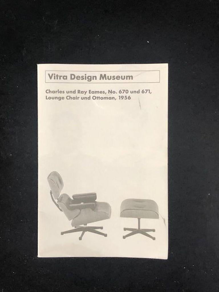Vintage Miniature of Charles Eames Vitra Design Museum Lounge Chair and Ottoman For Sale 1