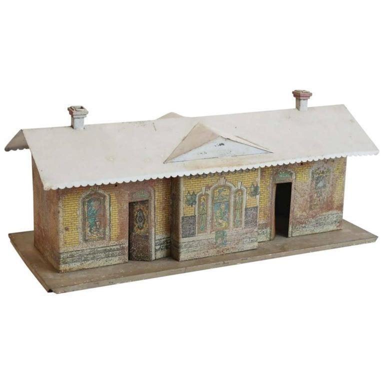 Mid-20th Century Vintage Miniature Train Depot For Sale