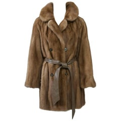 Vintage Mink Jacket with Belt