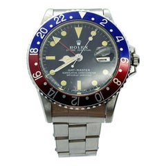 Vintage Mint Rolex 1675 GMT Master Pepsi Stainless Steel Creamy Patina 1972