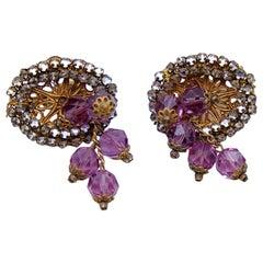 Vintage Miriam Haskell Earrings 1950s