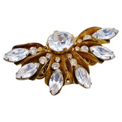Vintage Miriam Haskell Fan Pin 1950s