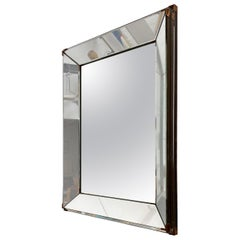 Vintage Mirror Attributed to Jacques Adnet